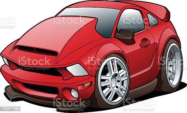 Cartoon Sports Car Stock Illustration - Download Image Now