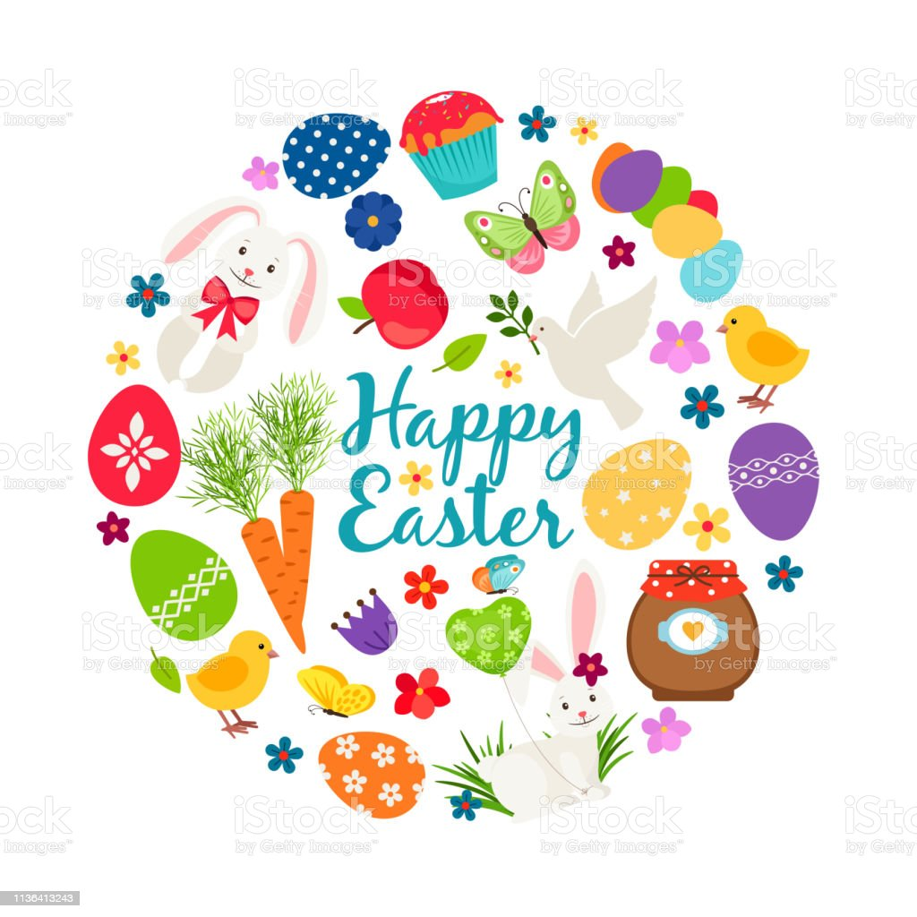photograph relating to Printable Eggs named Cartoon Spring Joyful Easter Printable Vector Banner With