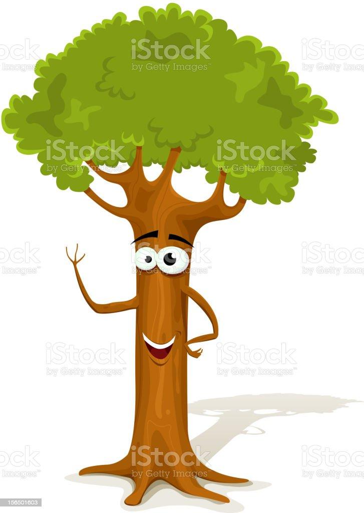 Ilustración De Personajes De Dibujos Animados De Primavera De árbol