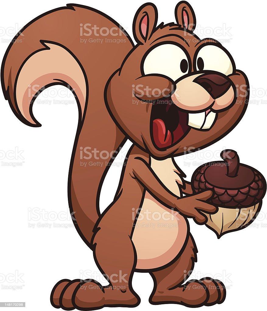 Cartoon squirrel royalty-free stock vector art