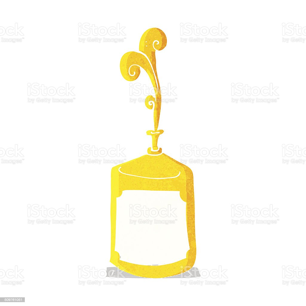 cartoon squirting mustard bottle vector art illustration