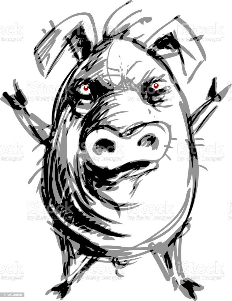 Encantador Cerdo Fetal Anatomía Externa Bandera - Anatomía de Las ...