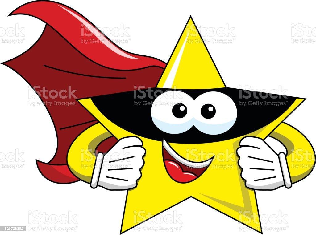 Cartoon Star Superhero Isolated Stock Illustration ...