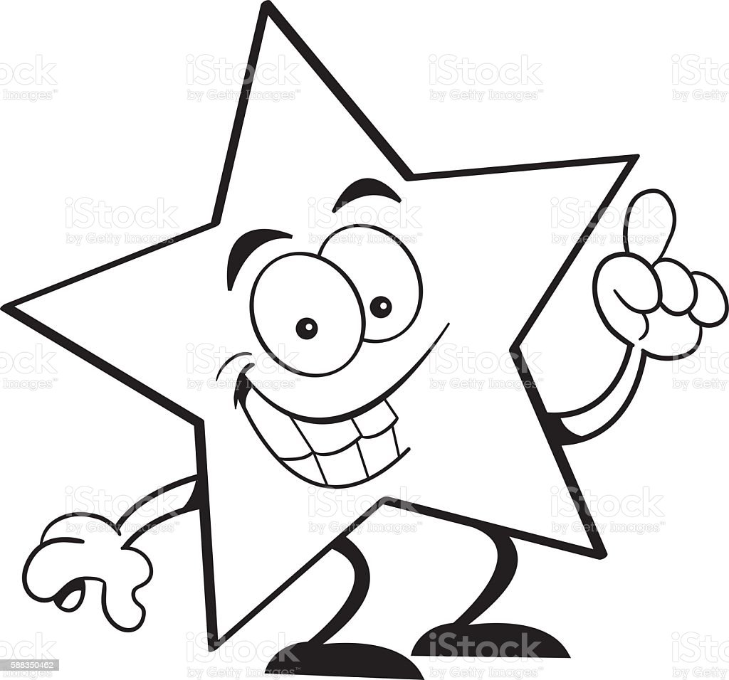 Cartoon Star With An Idea Stock Illustration - Download ...