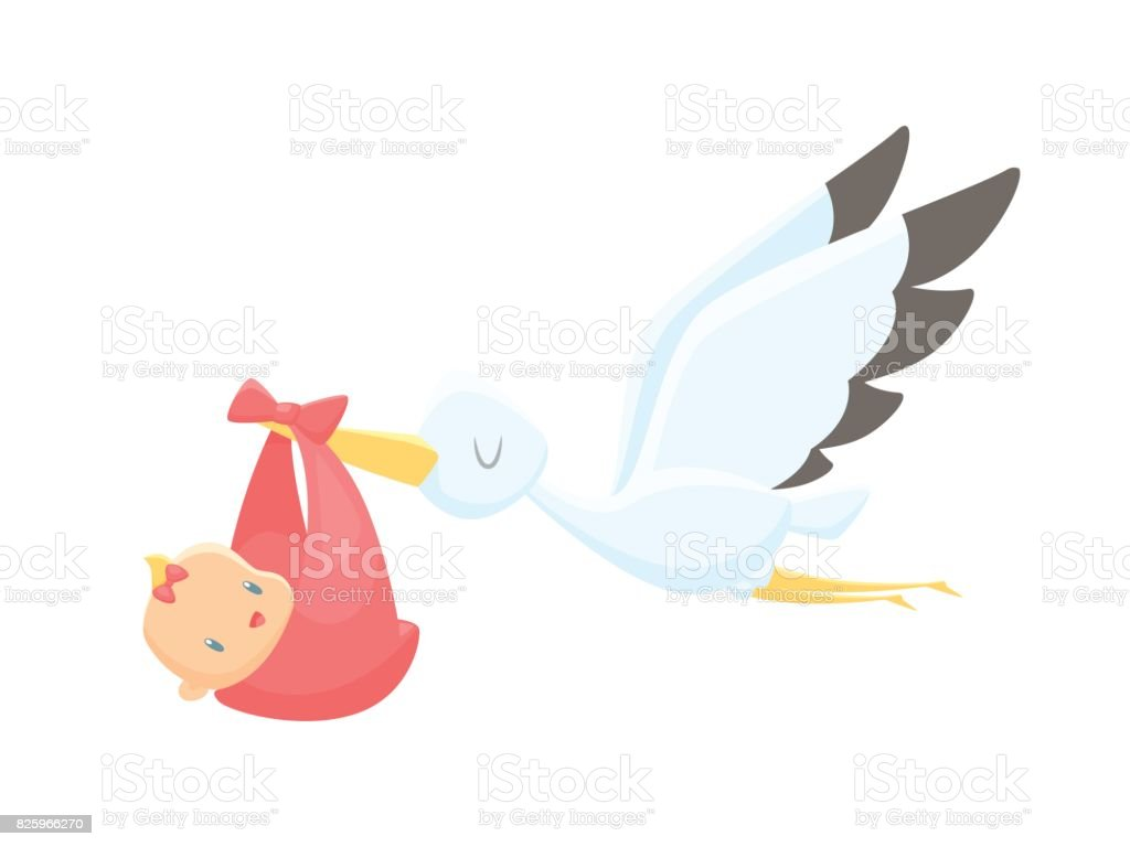 Cartoon Stork Wallpaper