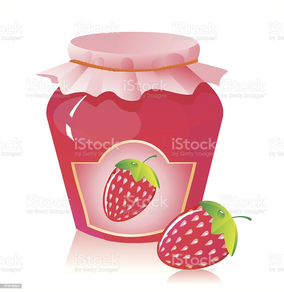 Cartoon strawberry jam and strawberry icon royalty-free cartoon strawberry jam and strawberry icon stock vector art & more images of berry fruit