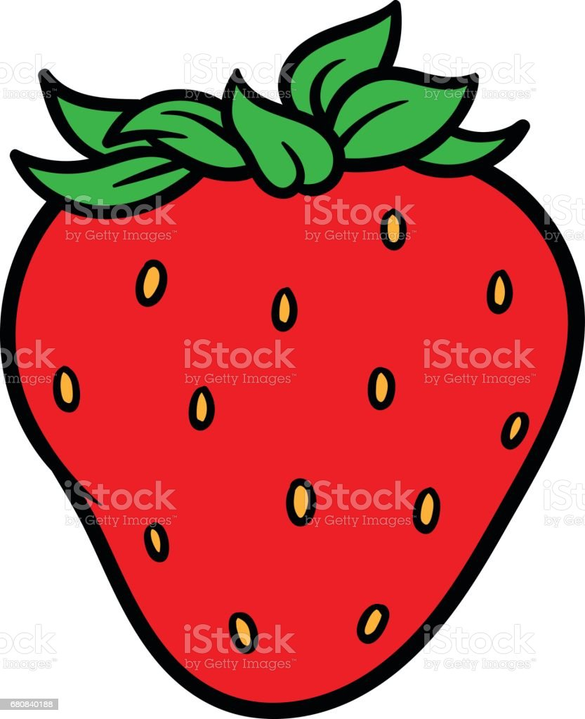 royalty free cheerful ripe red strawberry clip art vector images rh istockphoto com strawberry clip art download strawberry clipart png