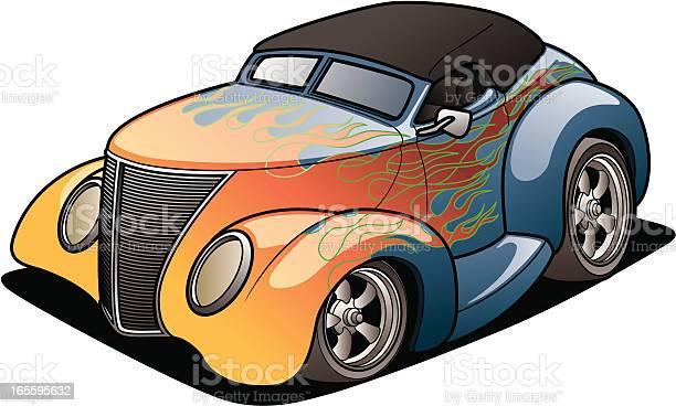 Cartoon Street Rod Stock Illustration - Download Image Now
