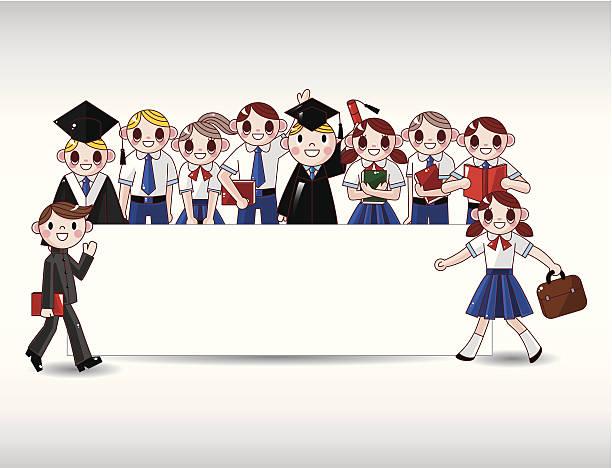 comic student card - schultischrenovierung stock-grafiken, -clipart, -cartoons und -symbole