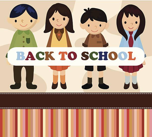 comic student card/back to school - schultischrenovierung stock-grafiken, -clipart, -cartoons und -symbole
