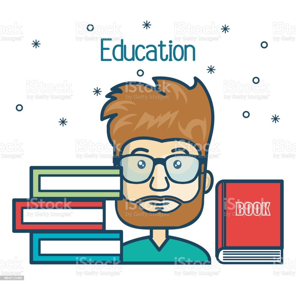cartoon student education books read design royalty-free cartoon student education books read design stock vector art & more images of adult