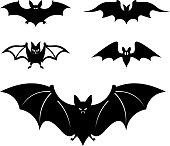 Cartoon style bats - Vector illustration