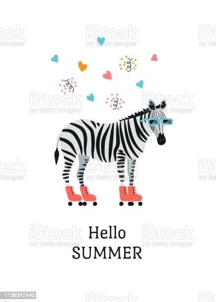 Cartoon style icon of zebra with sunglasses roller skates cute with vector id1139342440?b=1&k=6&m=1139342440&s=612x612&h=zwzmfim jxsnyyzdsg3yimati82tu5rqtpb1srhab1y=
