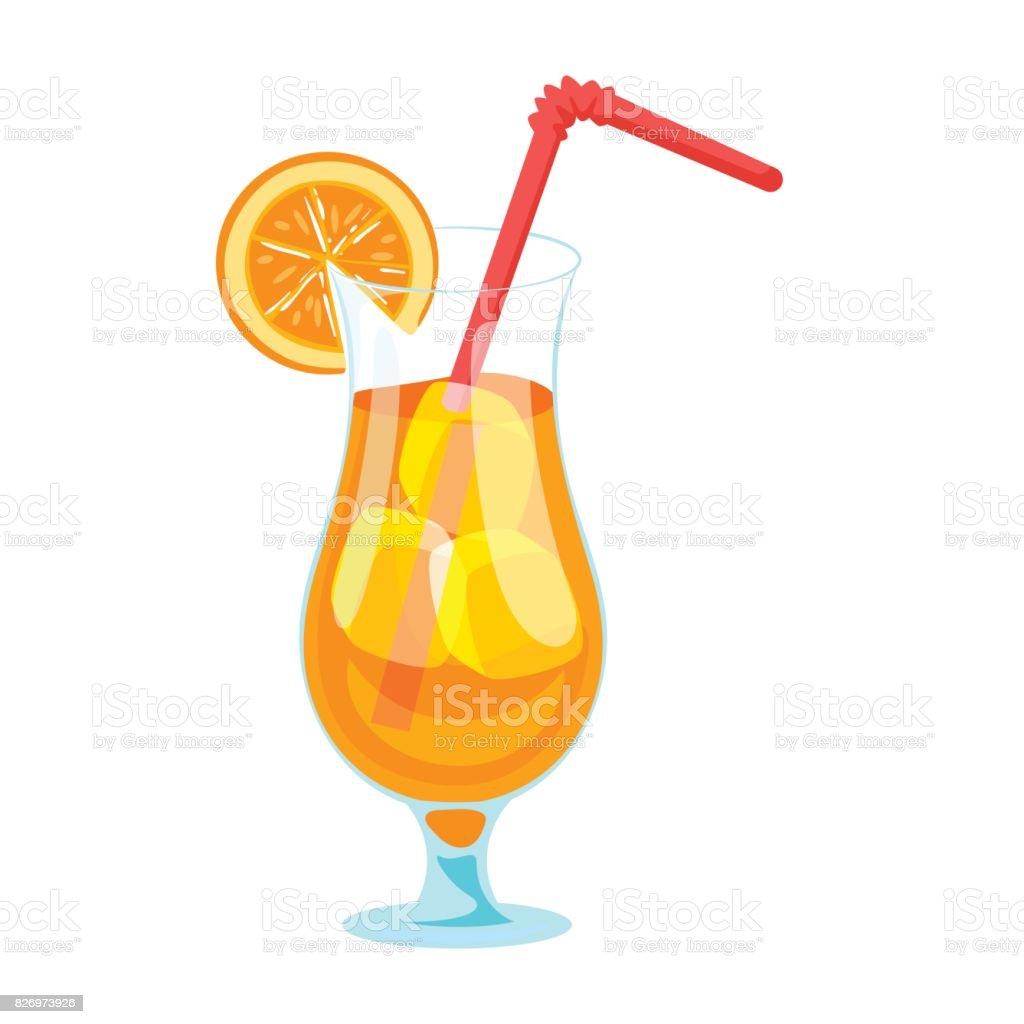 Illustration de style dessin anim de cocktail de fruits - Dessin cocktail ...