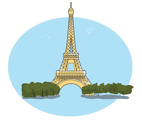 Eiffeltornet Tecknat
