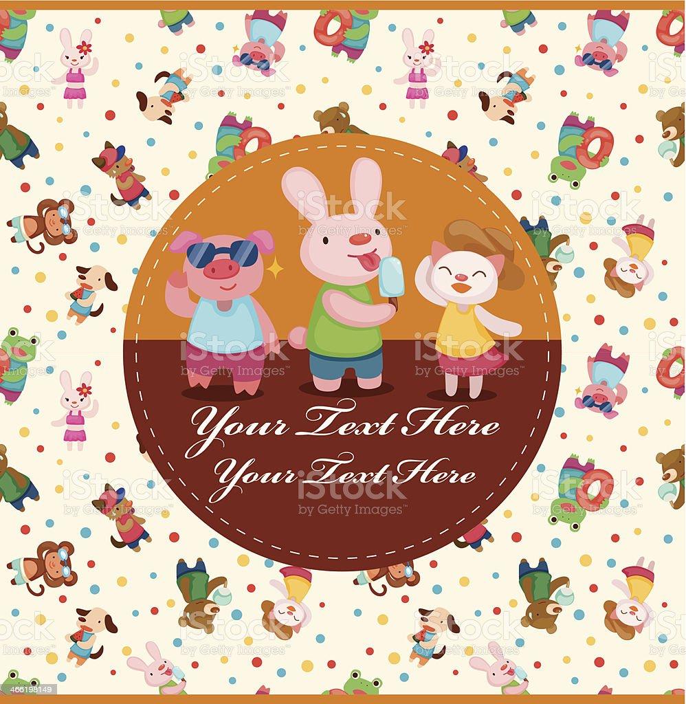 カットイラスト夏の動物カード のイラスト素材 466198149 | istock
