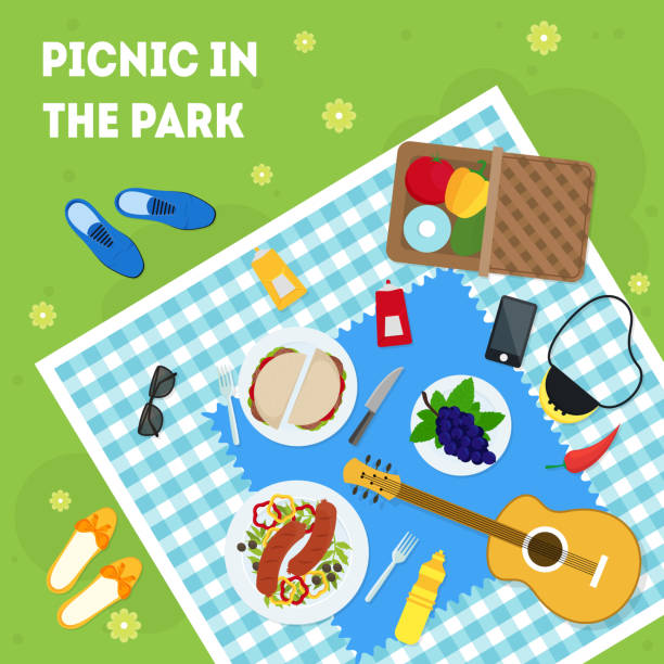 Best Spring Picnic Illustrations, Royalty-Free Vector ...