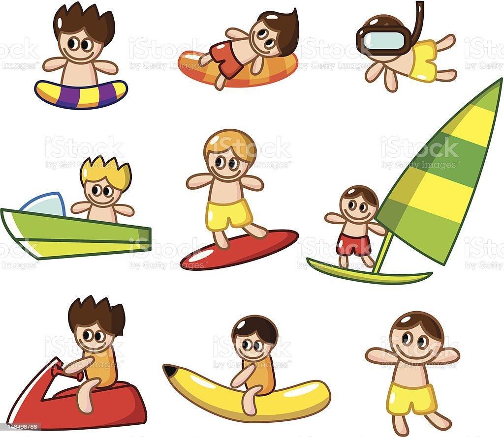 cartoon summer sport royalty-free stock vector art