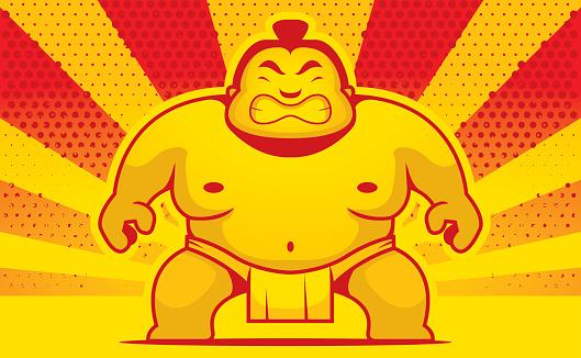 Cartoon Sumo Wrestler