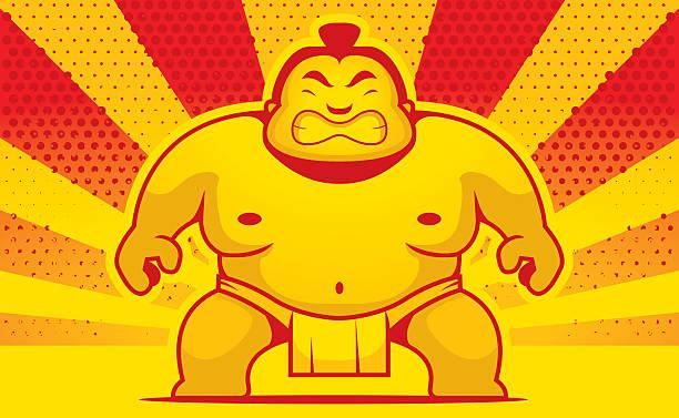 comic sumo-wrestler - sumo stock-grafiken, -clipart, -cartoons und -symbole