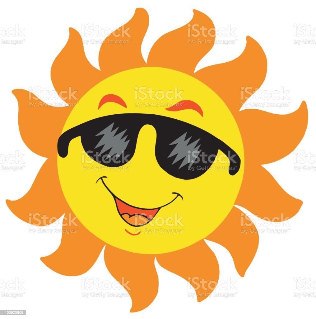 b462d3b2e9b2 Мультяшный солнце с Солнцезащитные очки Мультяшный солнце с Солнцезащитные  очки — стоковая векторная графика и другие
