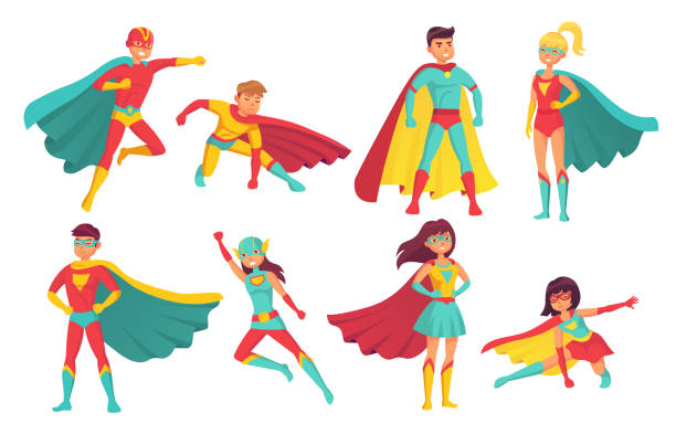 32 956 Superhero Illustrations Royalty Free Vector Graphics Clip Art Istock