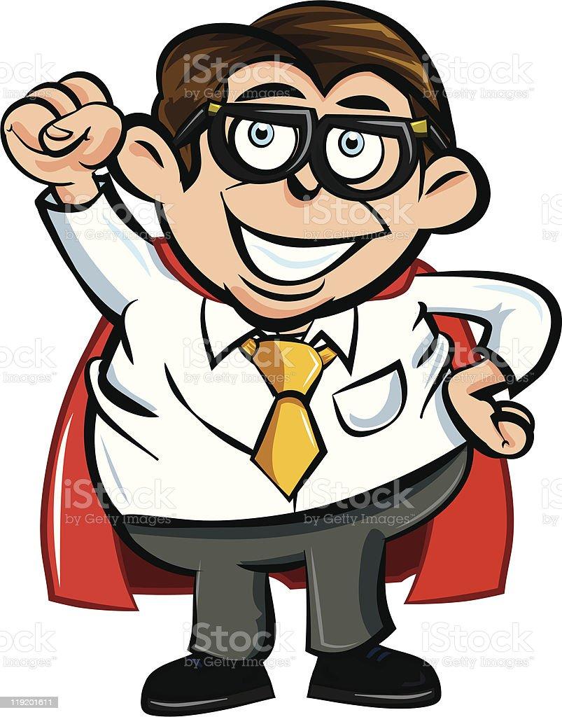 Cartoon superhero office worker royalty-free cartoon superhero office worker stock vector art & more images of adult