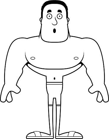 182c5cb8b40 漫画驚いて男水着 - アメリカ合衆国のベクターアート素材や画像を多数ご用意 - iStock