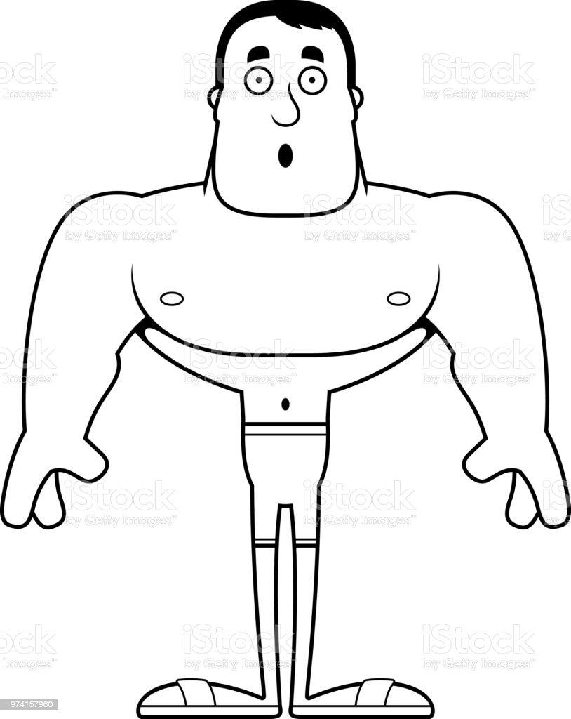 a4ecc6d93fe 漫画驚いて男水着 ロイヤリティフリー漫画驚いて男水着 - アメリカ合衆国のベクター