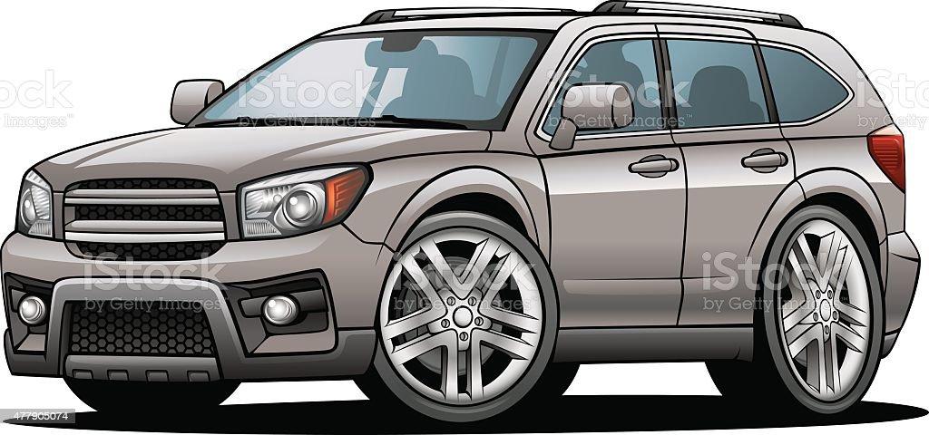 Cartoon SUV 02 vector art illustration
