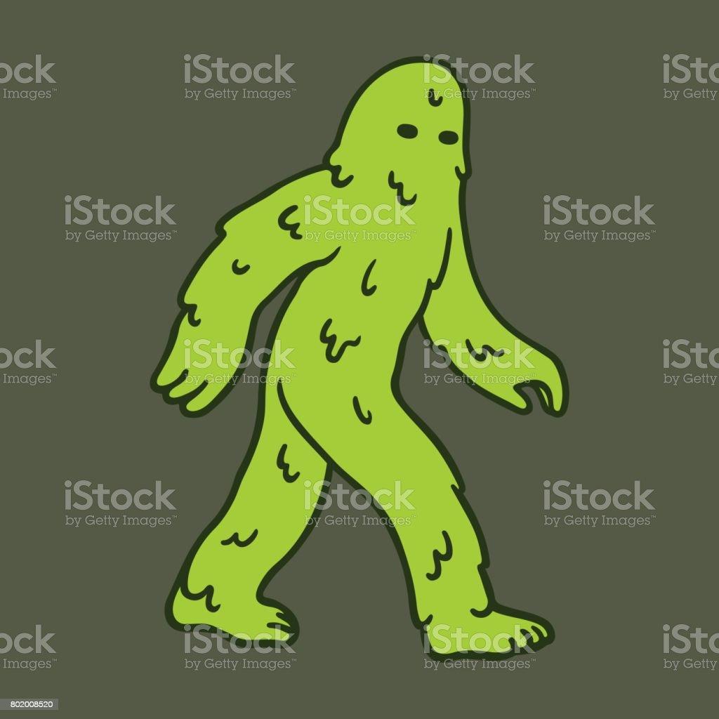 Monstro do pântano dos desenhos animados - ilustração de arte em vetor