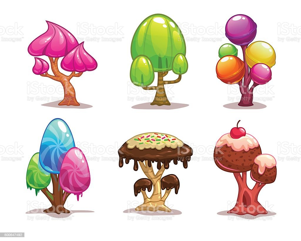 Cartoon Sweet Candy Tree Stock Vector Art & More Images Of