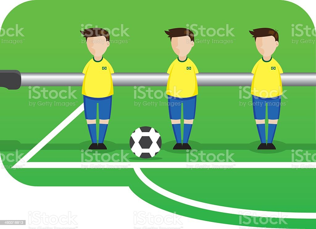 table de dessin animé de l'équipe de football du Brésil - Illustration vectorielle