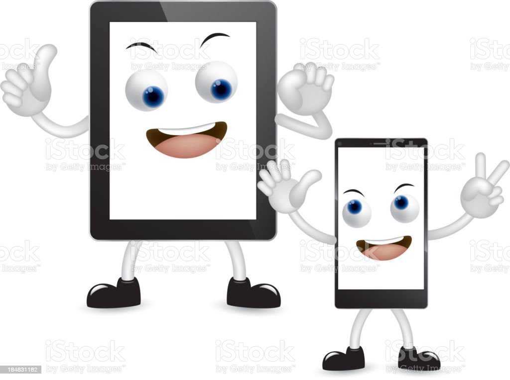 Cartoon tablet pc and smartphone royalty-free cartoon tablet pc and smartphone stock vector art & more images of abstract