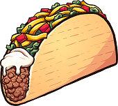 Cartoon Taco