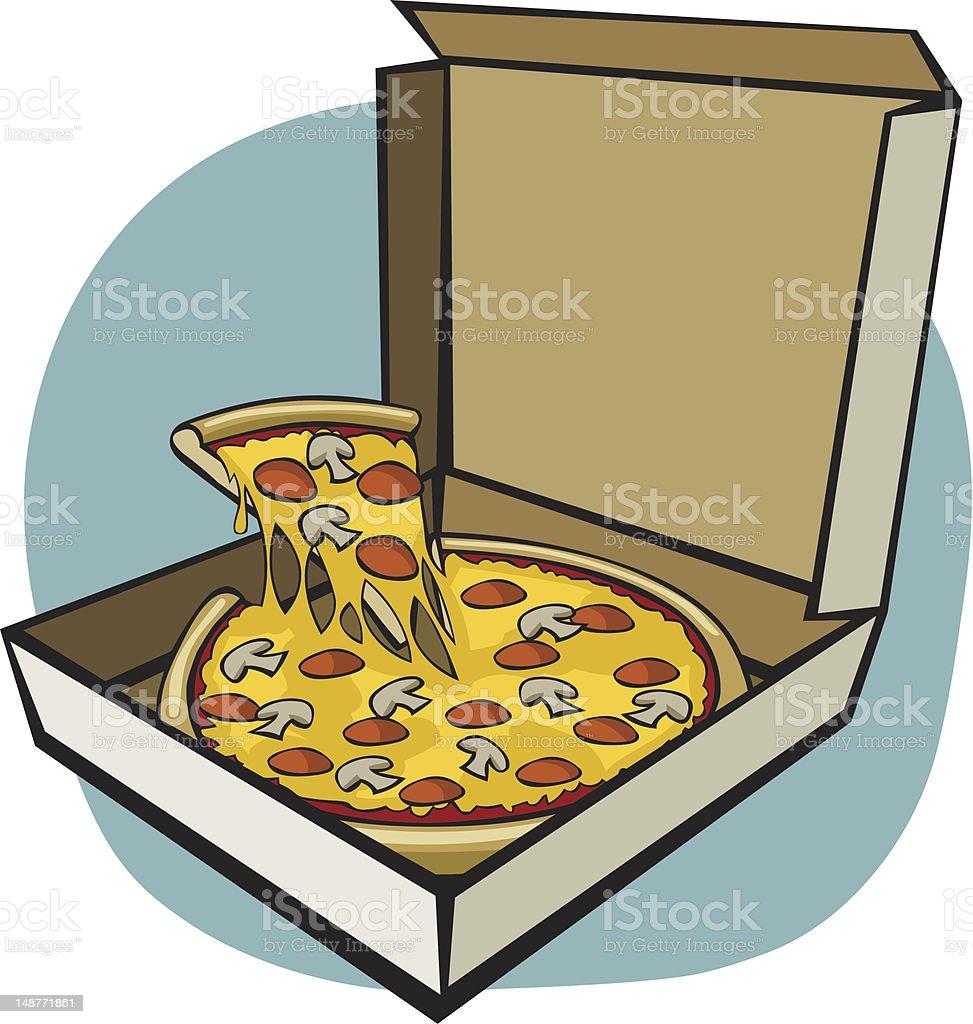 royalty free cartoon of the pizza box clip art vector images rh istockphoto com pizza box clipart free open pizza box clipart