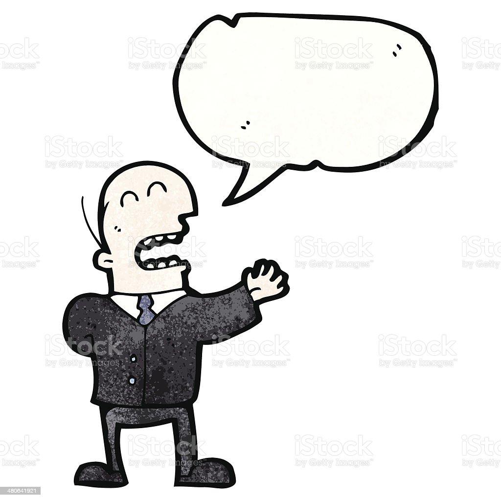 カットイラスト会話をするビジネスマン いたずら書きのベクターアート