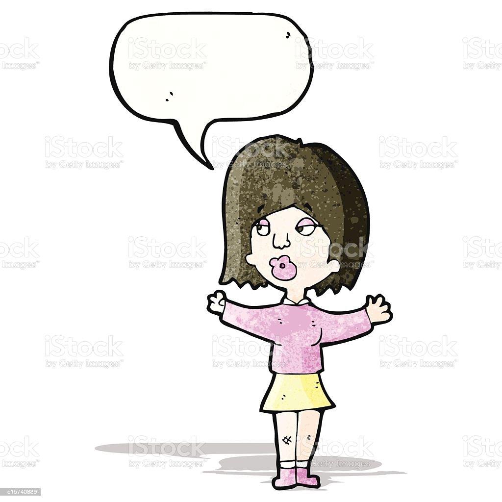 カットイラスト会話をする女性 いたずら書きのベクターアート素材や