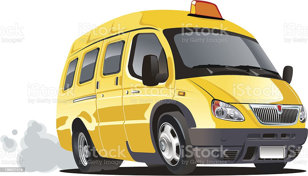 cartoon taxi bus royalty-free stock vector art