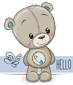 Cartoon Teddy Bear on a white background