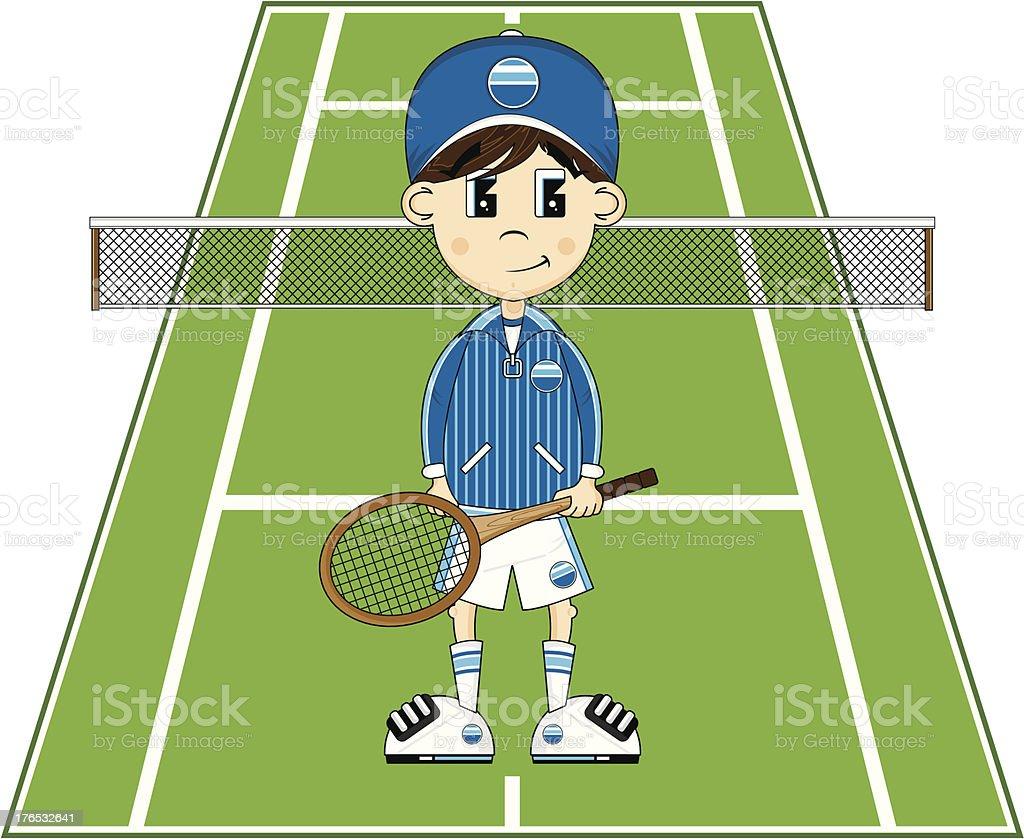 Cartoon Tennis Boy royalty-free cartoon tennis boy stock vector art & more images of animal trainer