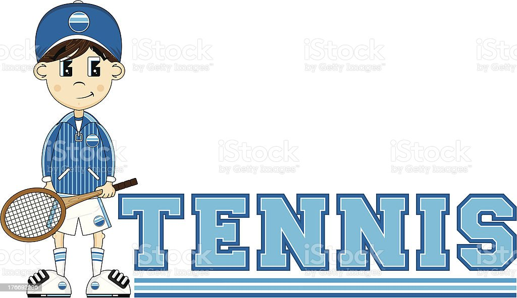 Cartoon Tennis Boy royalty-free cartoon tennis boy stock vector art & more images of backhand stroke