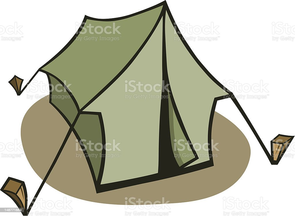 Cartoon Tent royalty-free cartoon tent stock vector art u0026&; more images of c&ing  sc 1 st  iStock & Cartoon Tent Stock Vector Art u0026 More Images of Camping 148771884 ...