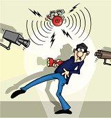 Thief cartoon vector clip art. Ηas no gradient