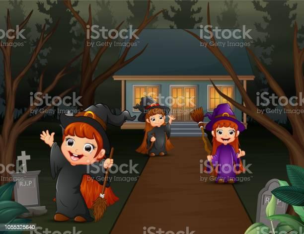 Cartoon three long haired witch children vector id1055325640?b=1&k=6&m=1055325640&s=612x612&h=4vnywcexldpmridljgkh nt1kejb7fxofh5wyvl5rfm=
