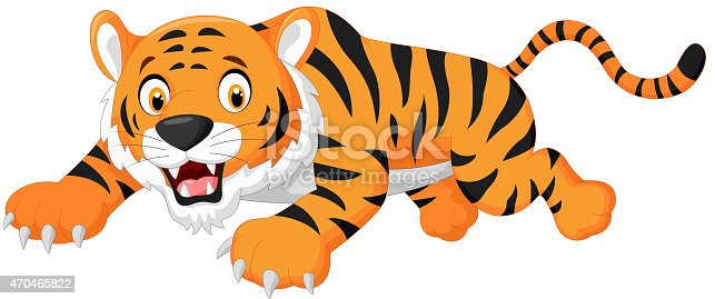 Cartoon Tiger Jumping Stock Vector Art & More Images Of