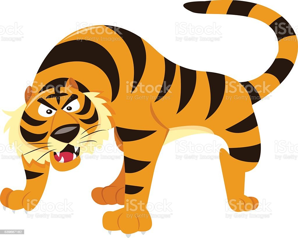 cartoon tiger stock vector art 539687182 istock