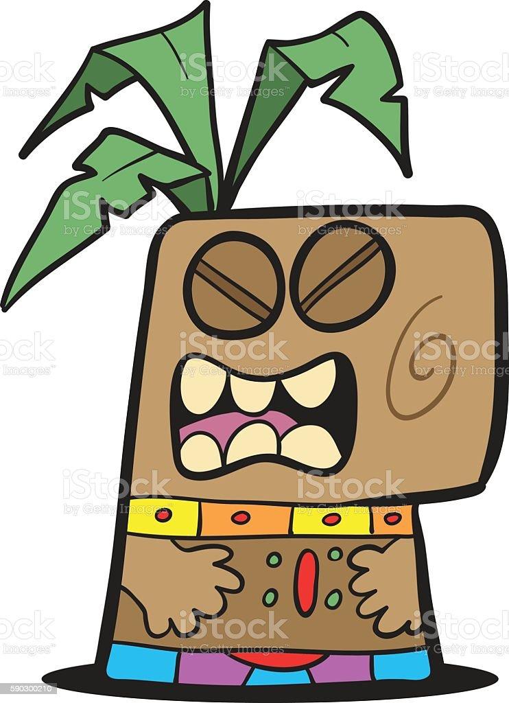 Cartoon Tiki Head cartoon tiki head — стоковая векторная графика и другие изображения на тему Аборигенная культура Стоковая фотография
