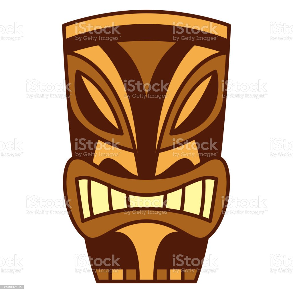cartoon tiki idol isolated on white background stock vector art rh istockphoto com tiki vector image tiki vector art free
