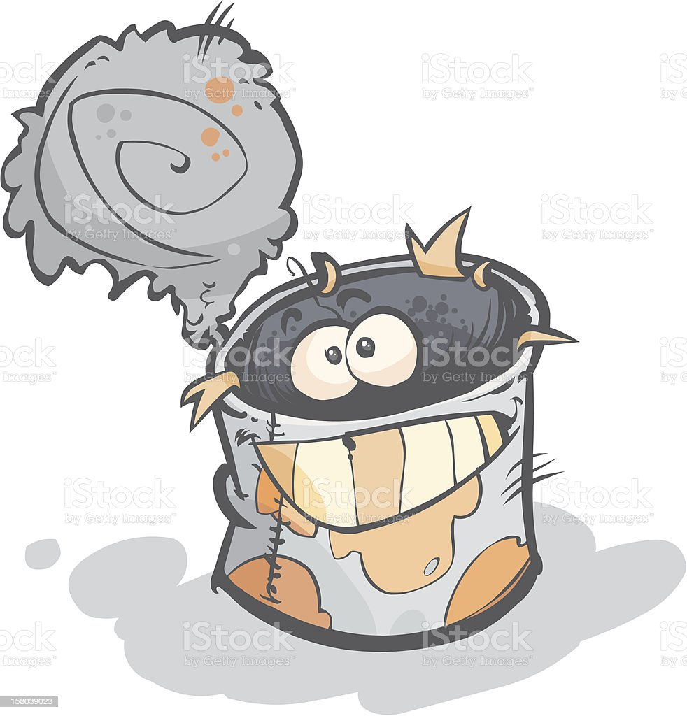 Cartoon tin can. royalty-free cartoon tin can stock vector art & more images of aluminum